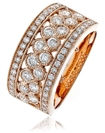 Image for 9.5mm Round Diamond Multi Row Dress Ring
