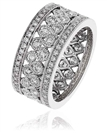 Image for 8mm Round Diamond Multi Row Dress Ring