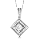 Image for Round & Princess Diamond Designer Pendant
