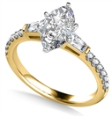 Image for Tapered Baguette Marquise Diamond Ring With Shoulder Diamonds