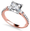 Image for Tapered Baguette Princess Diamond Ring With Shoulder Diamonds