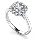 Image for Prong Set Asscher & Round Diamond Ring