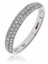 3.5mm Round Diamond Half Eternity/Wedding Ring