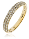 0.55ct VS/EF Diamond Half Eternity/Wedding Ring