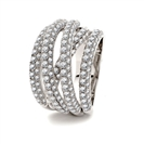 4.00CT Spiral Round Diamond Dress Ring