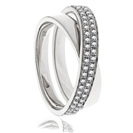 Image for 0.30CT Elegant Round Diamond Cross Over Dress Ring