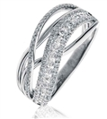Image for 0.60CT Elegant Round Diamond Cross Over Dress Ring