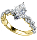 Image for Embellished Twist Marquise Diamond Vintage Plait Ring