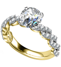 Image for Embellished Twist Round Diamond Vintage Plait Ring