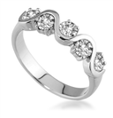 0.75CT VS/FG Round Diamond 5 Stone Ring