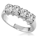 Classic Four Stone Round Diamond Eternity Ring