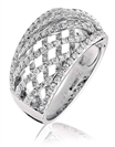 Image for 1.30CT Criss Cross Round Diamond Dress Ring
