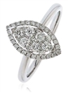 0.45CT Modern Round Diamond Cluster Halo Ring