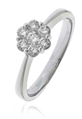 Image for 0.40CT Elegant Round Diamond Cluster Ring