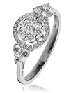 Image for 0.75CT Modern Round Diamond Cluster Ring