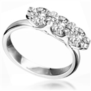 Modern Crossover Round Diamond Trilogy Ring