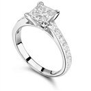 Image for Classic Shoulder Set Diamond Engagement Ring