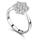 Image for Elegant Round Diamond Flower Cluster Ring