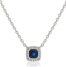 Image for Cushion Shaped Blue Sapphire & Diamond Pendant