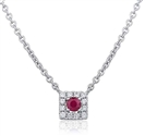 Image for Round Ruby & Diamond Pendant