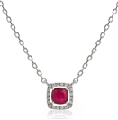 Image for Cushion Shaped Ruby & Diamond Pendant