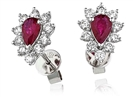 Image for Ruby & Diamond Cluster Earrings