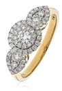 0.80ct VS/EF Modern Round Diamond Dress Ring