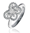 0.80CT Elegant Butterfly Round Diamond Dress Ring