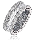 Image for 4.00CT Round & Baguette Diamond Mulit Row Dress Ring