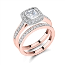 Image for Diamond Shoulder Set Ring With Matching Band