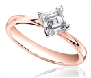 Image for Corner Twist Asscher Diamond Engagement Ring