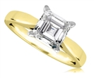 Image for Modern Asscher Diamond Engagement Ring