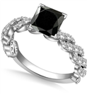 Image for Princess Black Diamond Vintage Ring