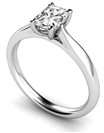 Elegant Radiant Diamond Engagement Ring