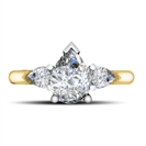 Image for Unique Pear Diamond Trilogy Ring