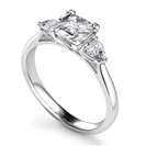 Image for Princess & Pear Diamond Trilogy Ring