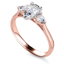 Image for Elegant Pear Diamond Trilogy Ring