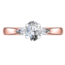 Image for Elegant Oval & Pear Diamond Trilogy Ring