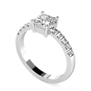 Image for Princess Shoulder Set Diamond Engagement Ring