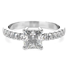 Princess Shoulder Set Diamond Engagement Ring