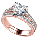 Image for Heart Shoulder Set Ring With Matching Band