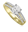 Image for Modern Split Shoulder Cushion Diamond Vintage Ring