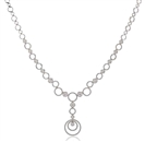 Image for Elegant Round Diamond Drop Necklace