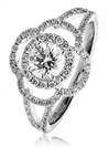 Classic Clover Round Diamond Dress Ring