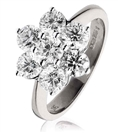 Image for 3.00CT Modern Flower Round Diamond Cluster Ring