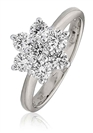 Image for 1.00CT Modern Flower Round Diamond Cluster Ring