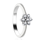 Image for 0.50CT Modern Flower Round Diamond Cluster Ring