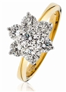 Image for 1.50CT Modern Flower Round Diamond Cluster Ring