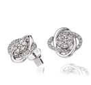 Unique Round Diamond Knot Earrings