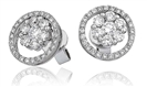 Image for Unique Round Diamond Halo Earrings